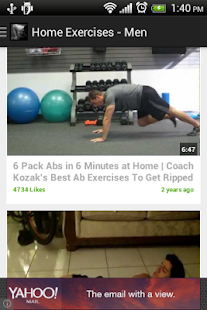 Home Exercises for men Free - screenshot thumbnail