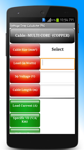 Voltage Drop Calculator PRO