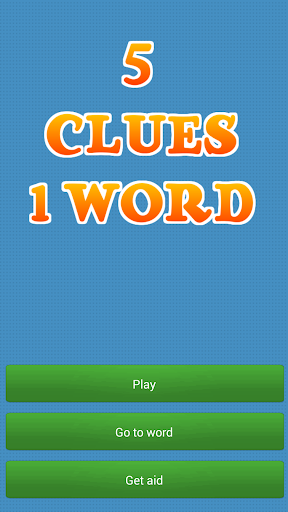 5 Clues 1 Word - Charades Free