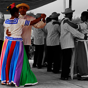 dominican folk dancers by Charles Saunders - Novices Only Objects & Still Life ( color, dominican, graceful, dance, culture, selective color, pwc, Travel, People, Lifestyle, Culture )