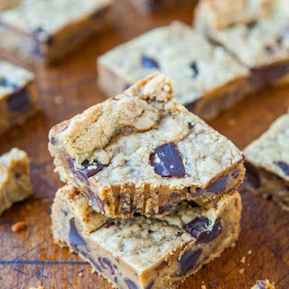 Peanut Butter Cup Cookie Dough Crumble Bars.