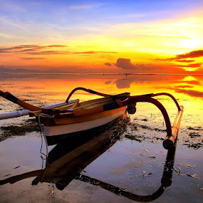 The Beautiful Fishing Boat by Sudipta Dey - Landscapes Sunsets & Sunrises