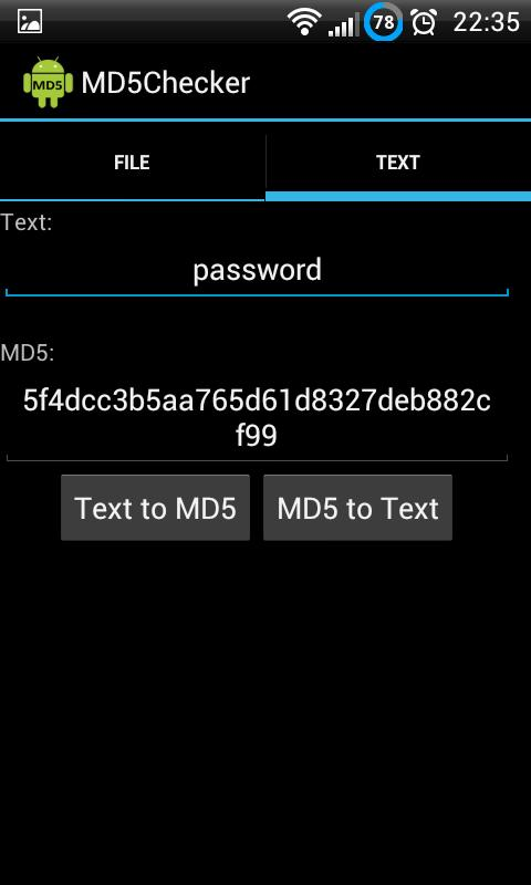 MD5 Checker - screenshot