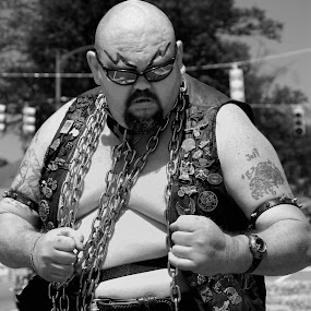 Badass by Tony Moore - People Street & Candids ( badass, black and white, chains, lincoln county, bw, mean, lincolnton, evil, man,  )
