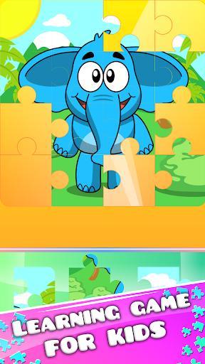 ジャングルの動物のジグソーパズル