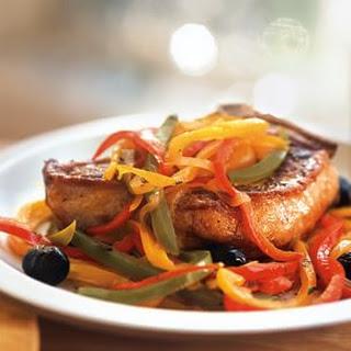 Pork Chops with Peperonata.
