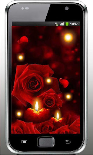 Candles Roses live wallpaper