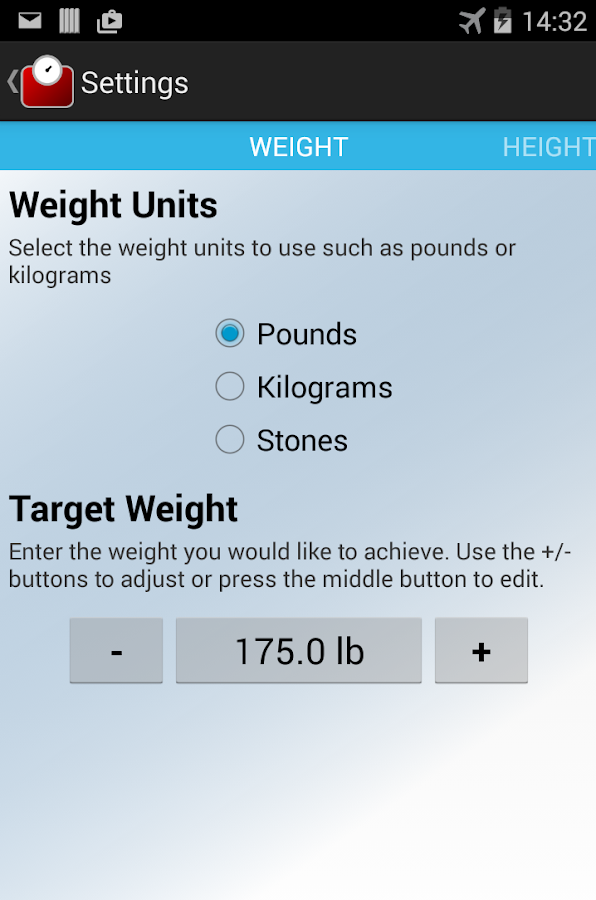 Weight Tracker- screenshot