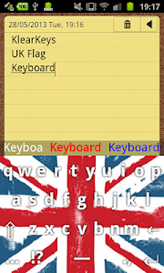 KlearKeys UK Flag Keyboard screenshot 2