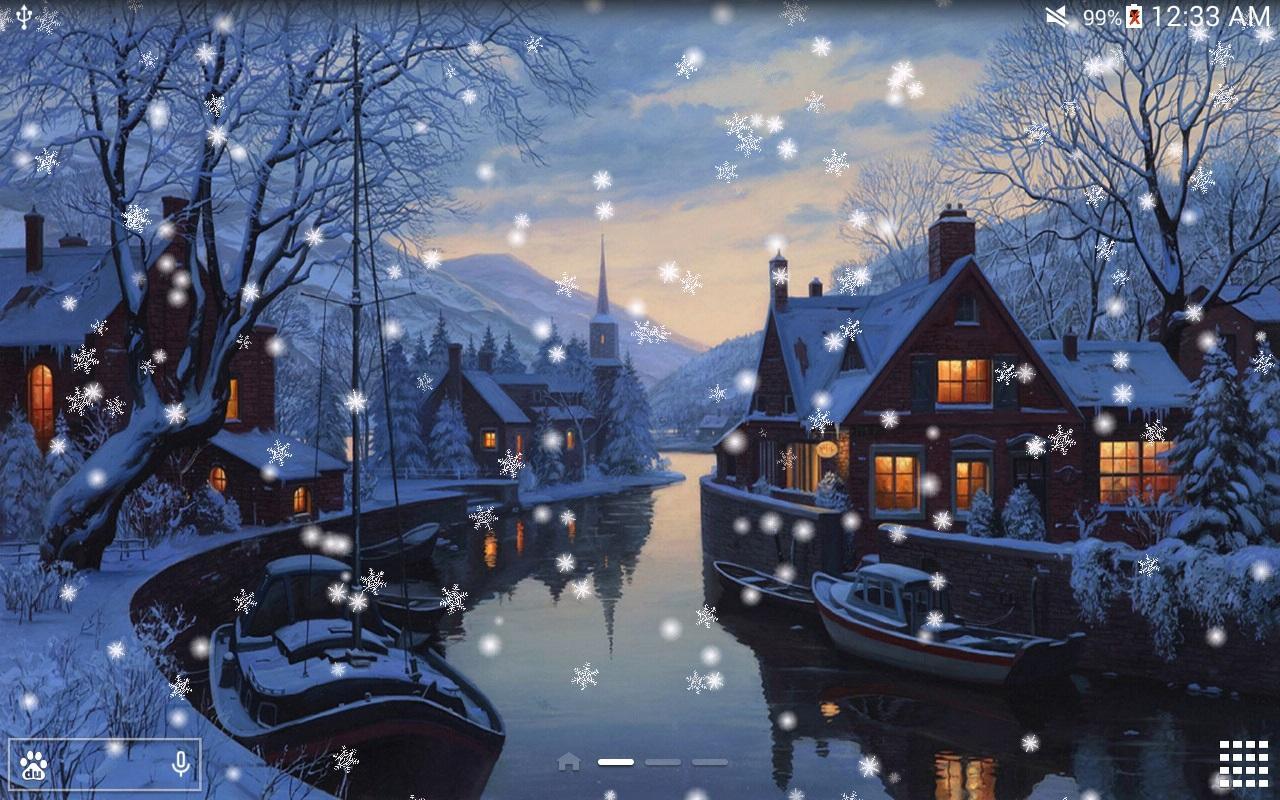 Dipinto a mano fiocco di neve app android su google play for Paesaggi invernali per desktop