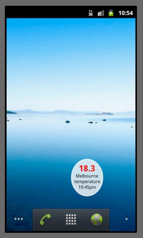 Melbourne Temperature Widget - screenshot
