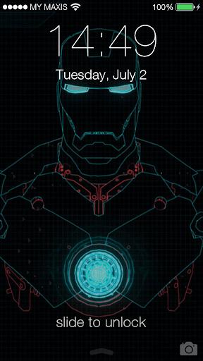 Iron Man Wallpaper 34447: Download IOS 7 Iron Man 3D Lockscreen Google Play