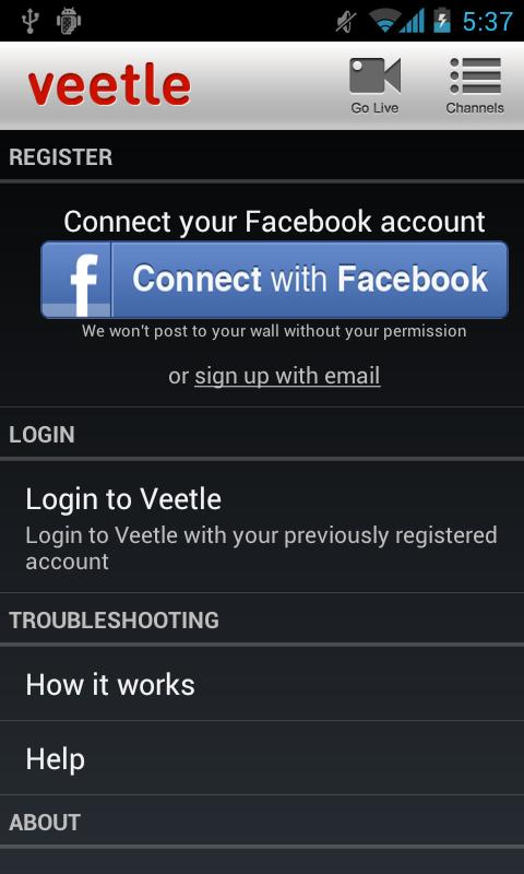 Veetle - screenshot