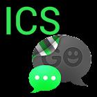 GO SMS THEME -Smooth ICS Green icon