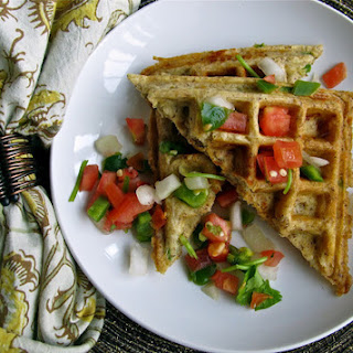Grilled Cheese & Chicken Sausage Waffles