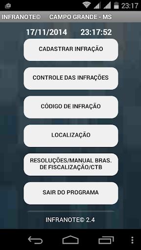 INFRANOTE - TRÂNSITO