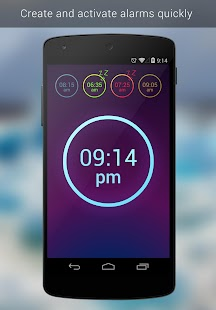 Neon Alarm Clock- screenshot thumbnail