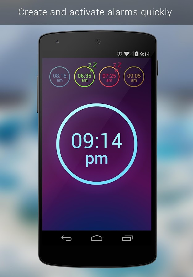 Neon Alarm Clock - screenshot