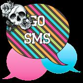 GO SMS - Rose Skulls 4