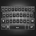 Sleek White Keyboard Skin icon