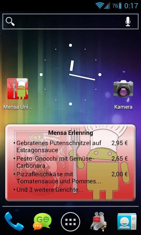 Mensa Marburg- screenshot