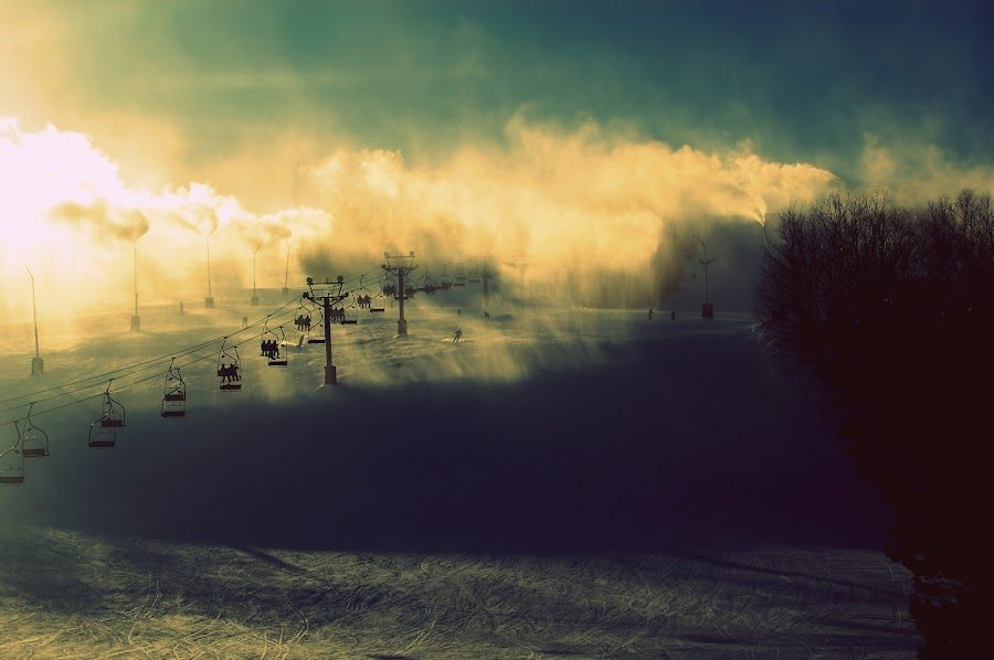 by Justin Dart - Instagram & Mobile Other ( skiing, winter, blue, green, snow, white )