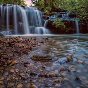 Hunts Creek by Michael Lucchese - Landscapes Waterscapes ( water, d810, waterscape, waterfall, australia, long exposure, nsw, nikon, landscape, sydney )