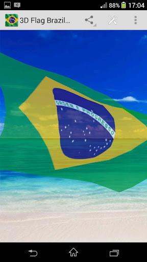 3D Flag Brazil LWP