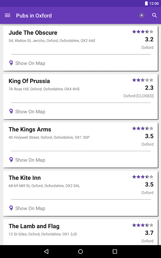 PintBite - Find UK Pubs- screenshot