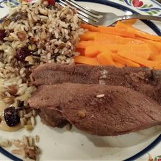 Roast Goose with Wild Rice Stuffing