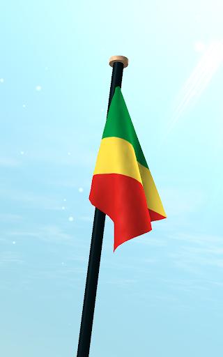 玩免費個人化APP 下載剛果共和國旗3D免費動態桌布 app不用錢 硬是要APP