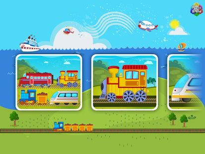 Trains Planes Puzzle for Kids