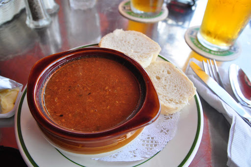 fish-chowder-Bermuda - Lunchtime with a bowl of Bermuda fish chowder in Somerset, Bermuda.