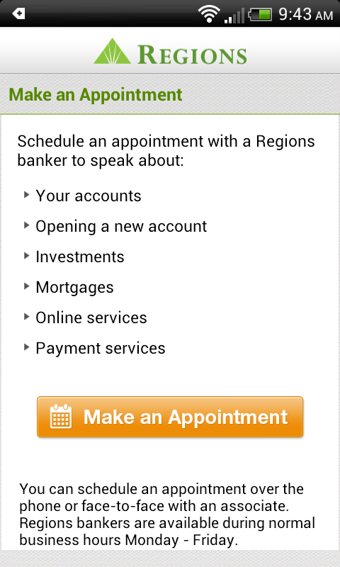 Regions Bank - screenshot