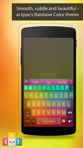ai.type Rainbow Color Keyboard