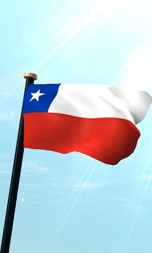 智利旗3D免费动态壁纸