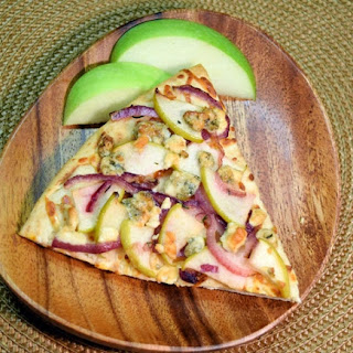 Caramelized Onion, Green Apple and Gorgonzola Cheese Pizza