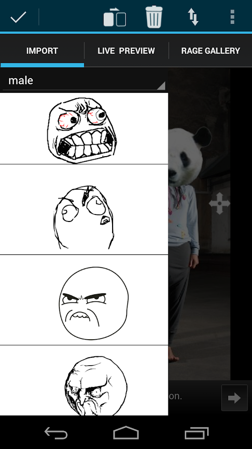 Rage Face Photo - screenshot