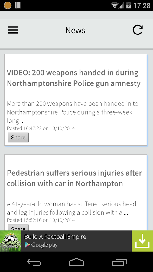 Northampton Local News- screenshot