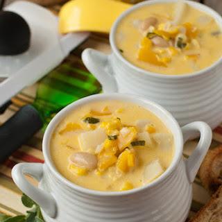 Fall Harvest Vegetarian Corn and Butternut Chowder