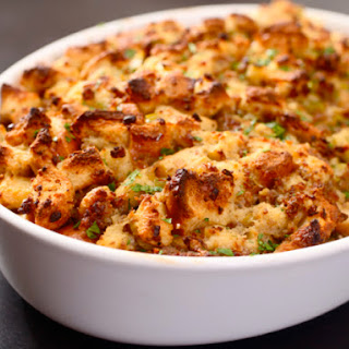 Classic Sage and Sausage Stuffing (or Dressing).