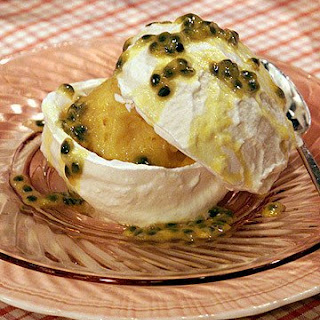 Passion Fruit Pavlova.
