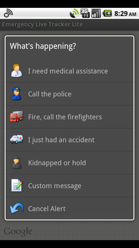 Emergency Live Tracker Lite- screenshot