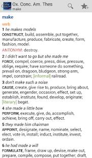 Concise Oxford American Thesau - screenshot thumbnail