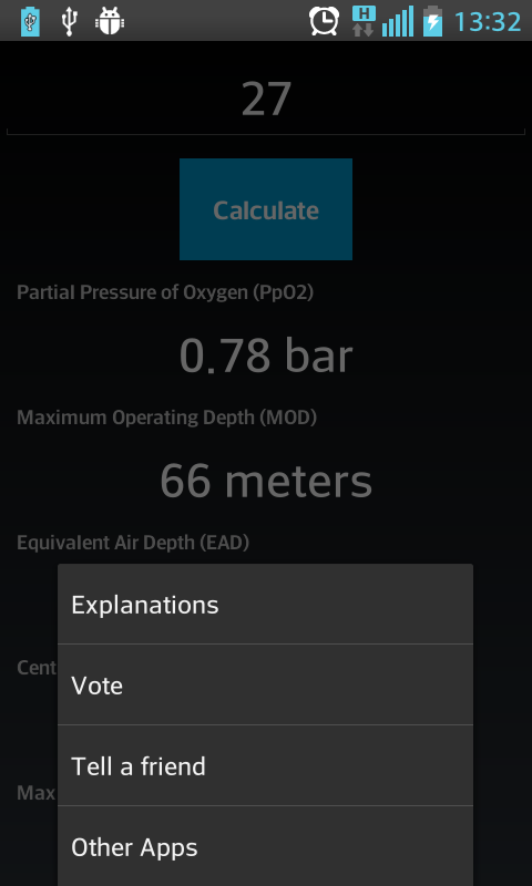 Scuba Extreme Nitrox Calc - screenshot