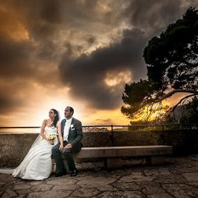 Monaco Port Herculis by Philippe Grosvald - Wedding Bride & Groom