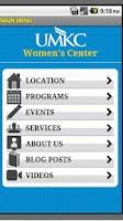 Screenshot of UMKC Women's Center