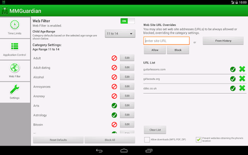 MMGuardian Tablet Security- screenshot thumbnail