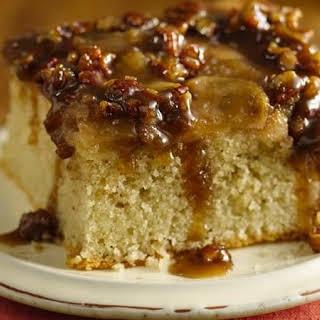 Gluten-Free Warm Caramel Apple Cake.