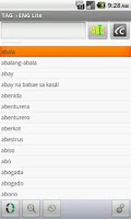 Screenshot of Eng-Tagalog Translator Lite
